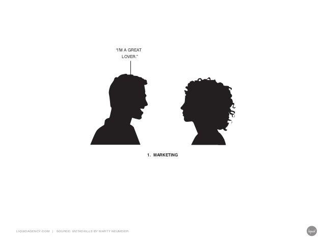 """I'M A GREAT LOVER.""  1. MARKETING  LIQUIDAGENCY.COM  |  SOURCE: ME TASKILLS BY MA RT Y NEUMEIER"