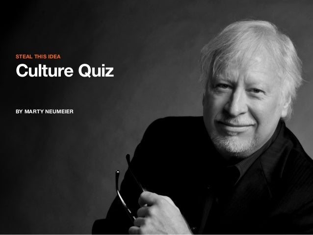 STEAL THIS IDEA  Culture Quiz BY MARTY NEUMEIER