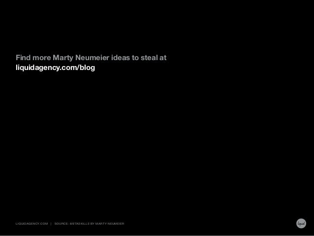 Find more Marty Neumeier ideas to steal at liquidagency.com/blog LIQUIDAGENCY.COM | Source: Metaskills by Marty Neumeier