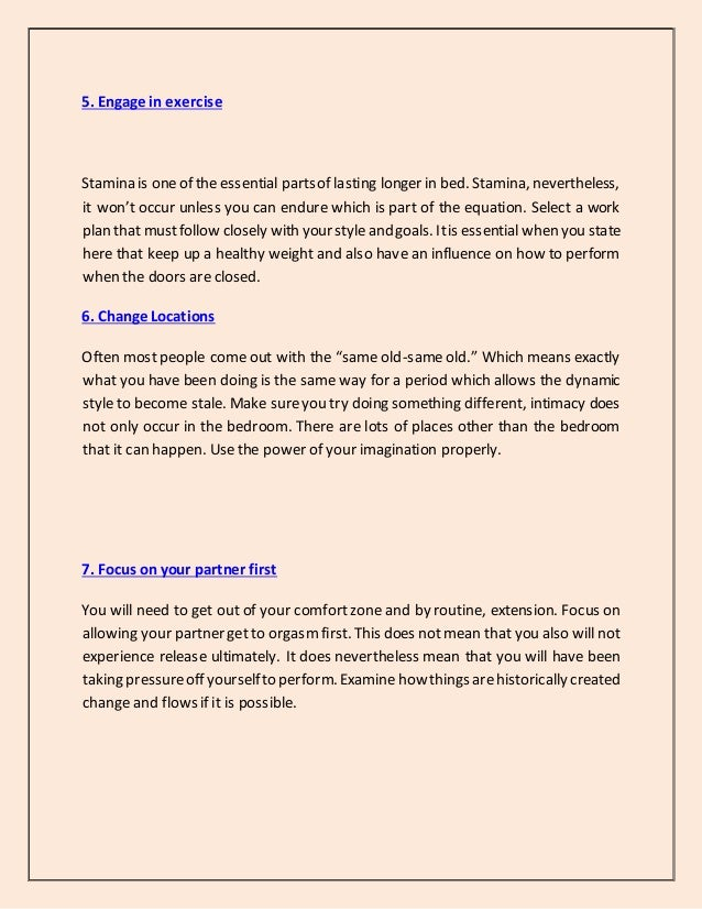 How To Last Longer In Bed Yahoo Top 10 Tips