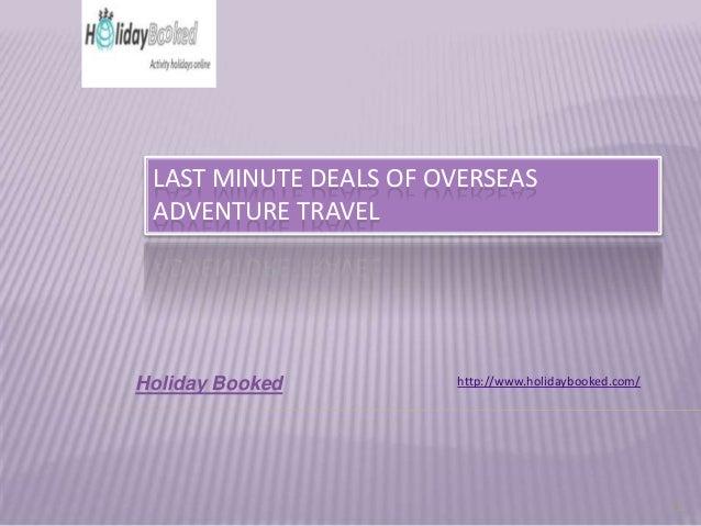 Last minute deals vluchten
