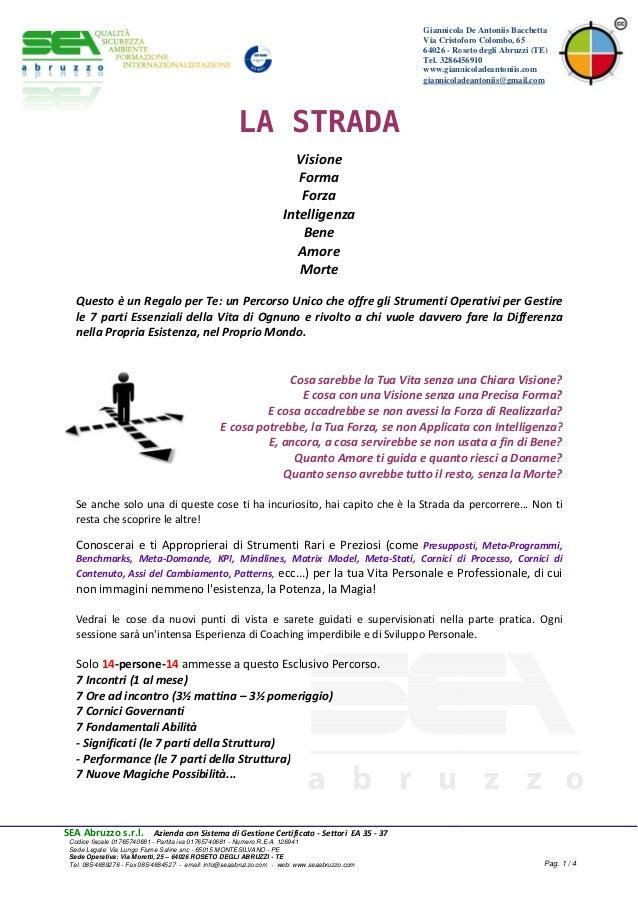 SEA Abruzzo s.r.l. Azienda con Sistema di Gestione Certificato Codice fiscale 01765740681 - Partita iva 01765740681 - Sede...