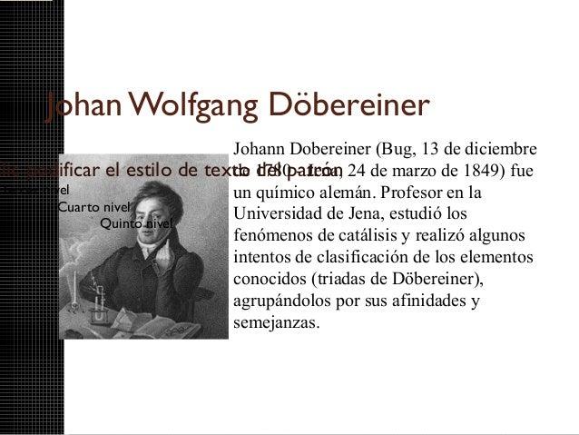 Las tradas de dobereiner johan wolfgang dbereiner urtaz Image collections