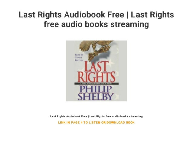 Last Rights Audiobook Free | Last Rights free audio books