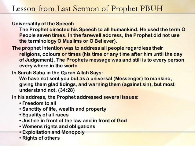 Prophet Muhammad s Last Sermon