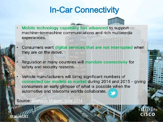 • • • • Source: Analysys Mason, June 2014 In-Car Connectivity