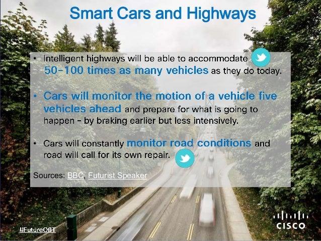 • • • Sources: BBC, Futurist Speaker Smart Cars and Highways