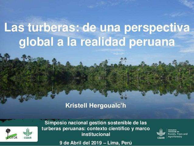 Las turberas: de una perspectiva global a la realidad peruana Simposio nacional gestión sostenible de las turberas peruana...