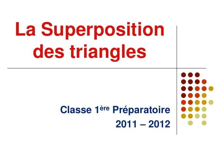La Superposition  des triangles    Classe 1ère Préparatoire                 2011 – 2012