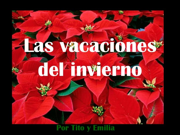 Las vacaciones del invierno   Por Tito y Emilia