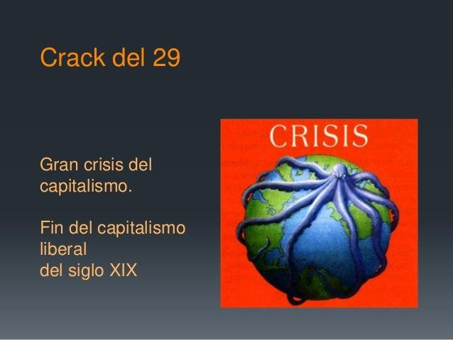 Crack del 29Gran crisis delcapitalismo.Fin del capitalismoliberaldel siglo XIX