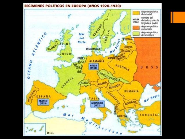 """Crackde1929RevoluciónrusaAccesode Hitleral poder1914 1945Guerra civil europea192919171918I GM Recuperación(en EE.UU.: """"fel..."""