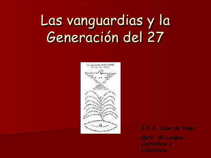 Las vanguardias y la Generación del 27<br />I.E.S. Lope de Vega<br />Dpto. de Lengua Castellana y Literatura<br />