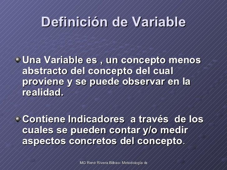 Las variables en una investigacion cientifica Slide 2