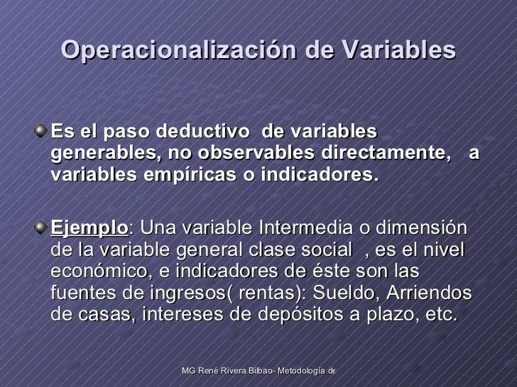 Las variables en una investigacion cientifica Slide 3