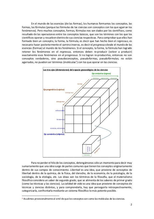 2 En el mundo de las esencias (de las formas), los humanos formamos los conceptos, las formas, las fórmulas (porque las fó...