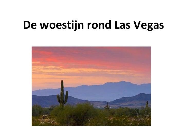 De woestijn rond Las Vegas