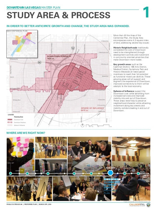 1 DOWNTOWN LAS VEGAS MASTER PLAN PUBLIC OUTREACH #4 | PREFERRED PLAN | MARCH 9TH, 2016 IN ORDERTO BETTER ANTICIPATE GROWTH...