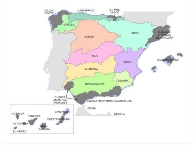 Vertientes Mapa Hidrografico De España.Las Vertientes Hidrograficas De Espana