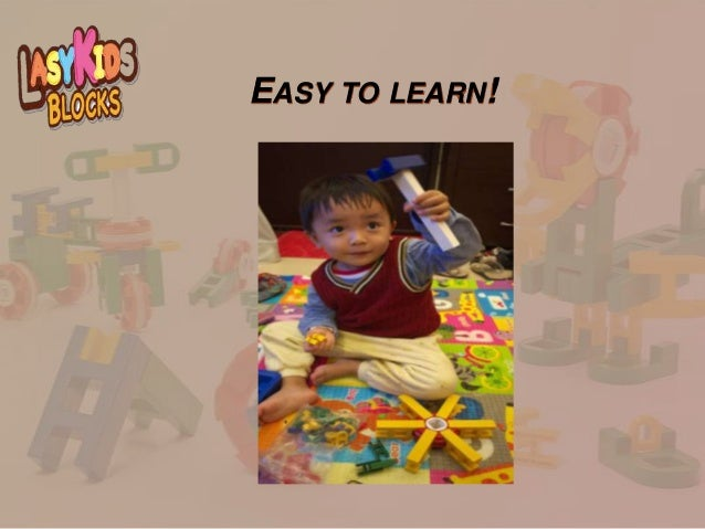 Good Educational Toys : Lasykids blocks the great educational toy