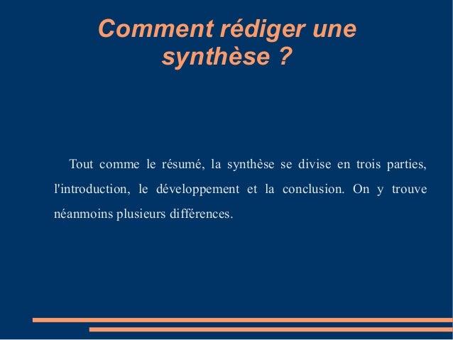 la synth u00e8se