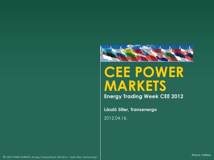 CEE POWER                                                                                MARKETS                          ...