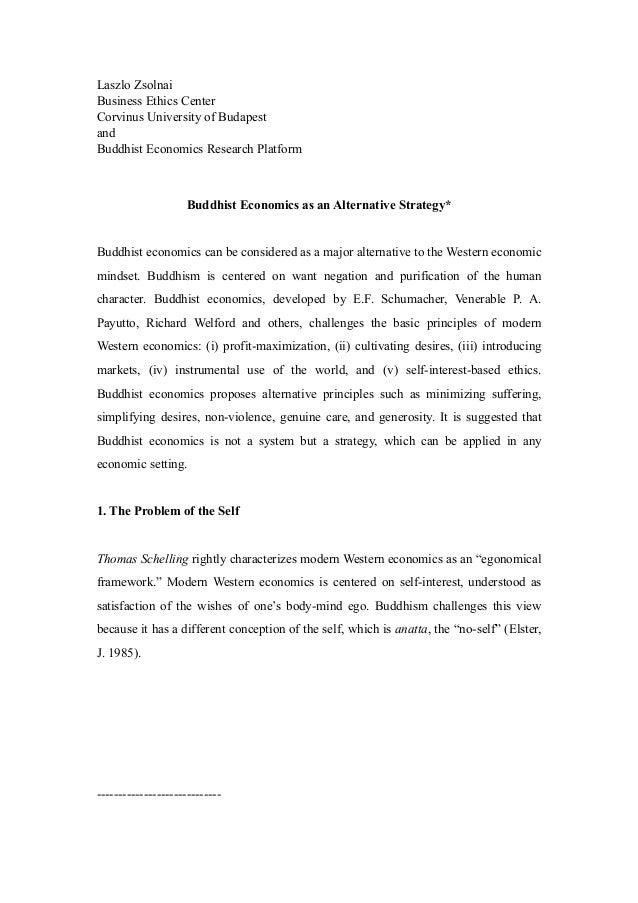 Laszlo ZsolnaiBusiness Ethics CenterCorvinus University of BudapestandBuddhist Economics Research Platform                ...