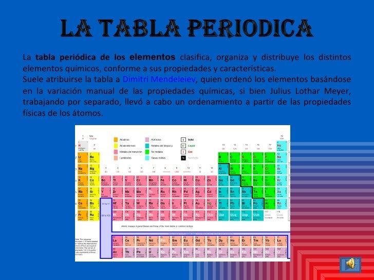 3 la tabla peridica de los elementos