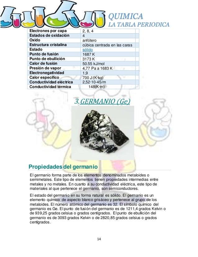 14 quimica la tabla periodica - Tabla Periodica Completa Punto De Fusion
