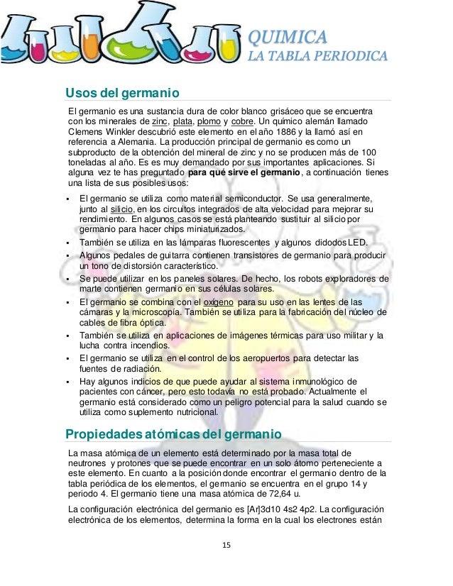 La tabla periodica 15 quimica la tabla periodica 15 usos urtaz Choice Image