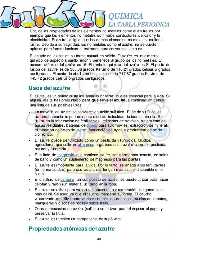 La tabla periodica azufre s propiedades del azufre 40 quimica la tabla periodica urtaz Gallery