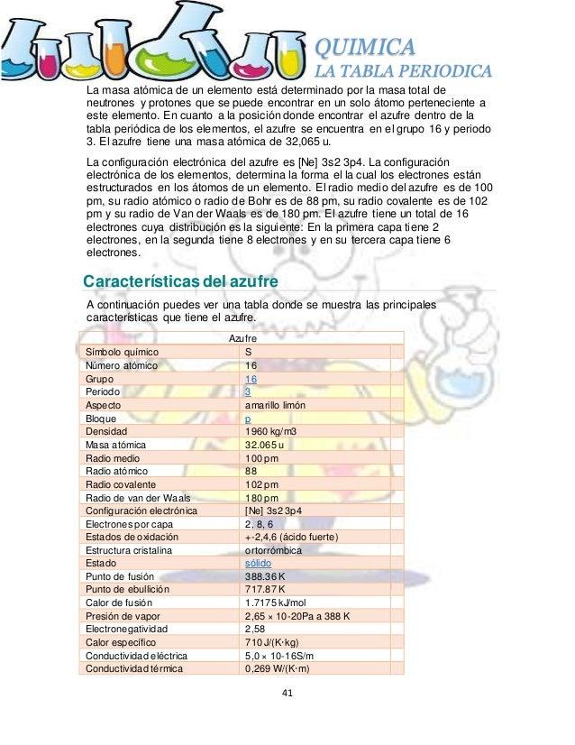 propiedades atmicas del azufre 41 quimica la tabla periodica - Tabla Periodica Completa Punto De Fusion