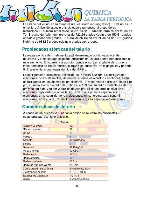 La tabla periodica 46 quimica la tabla periodica urtaz Choice Image