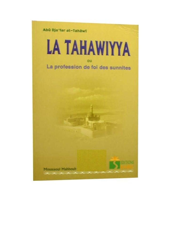 La tahawiyya. livre entier
