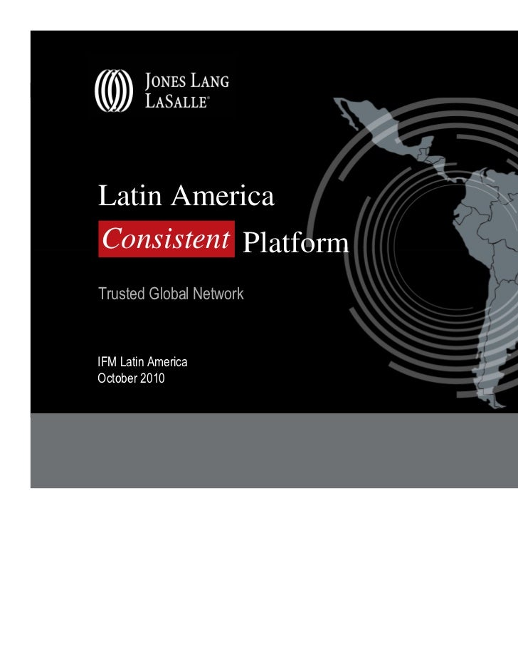 Latin AmericaConsistent PlatformTrusted Global NetworkIFM Latin AmericaOctober 2010