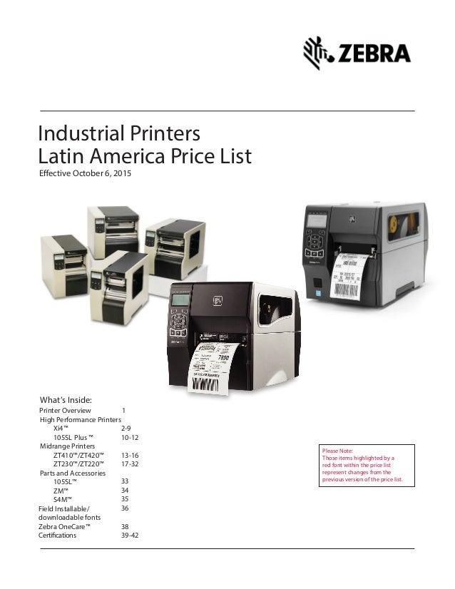 Tabletop Printer Zebra