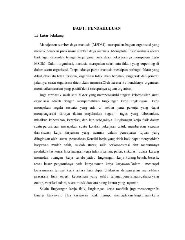 Contoh Latar Belakang Skripsi Manajemen Sdm Pejuang Skripsi