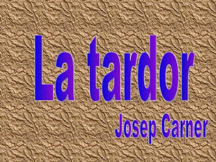 La tardor Josep Carner
