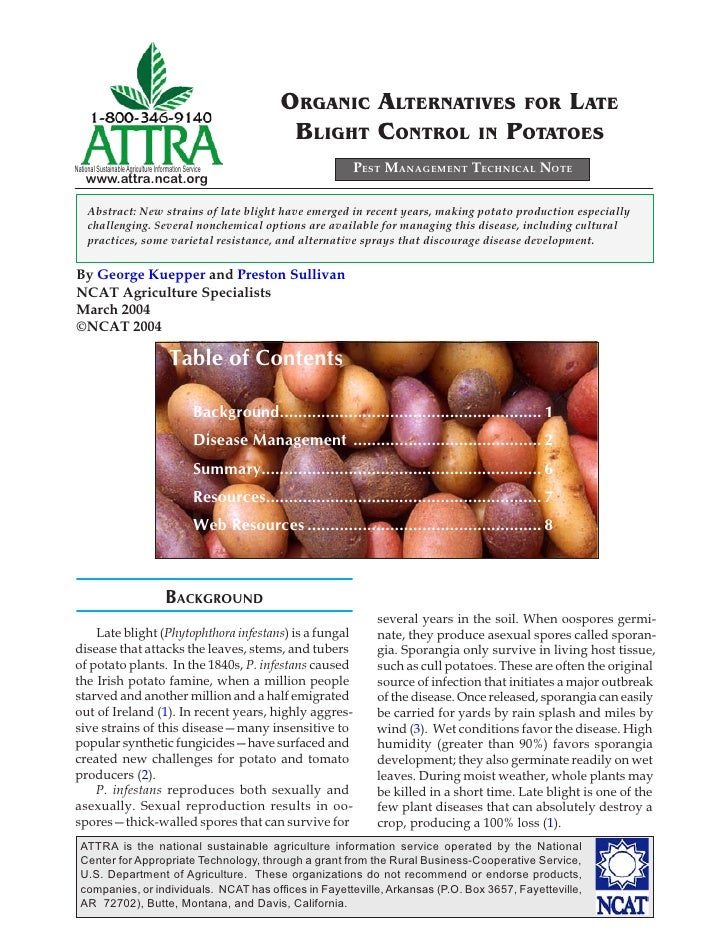 ORGANIC ALTERNATIVES FOR LATE                                                                  BLIGHT CONTROL IN POTATOESN...