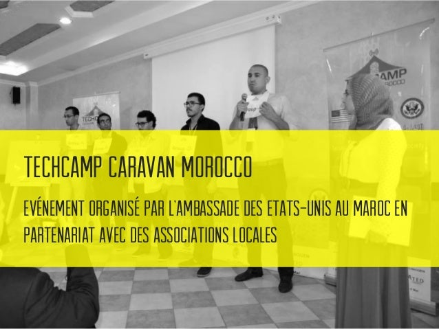 TechCamp Caravan Morocco Le Concept : Initier les associations et les coopératives à certains outils technologiques