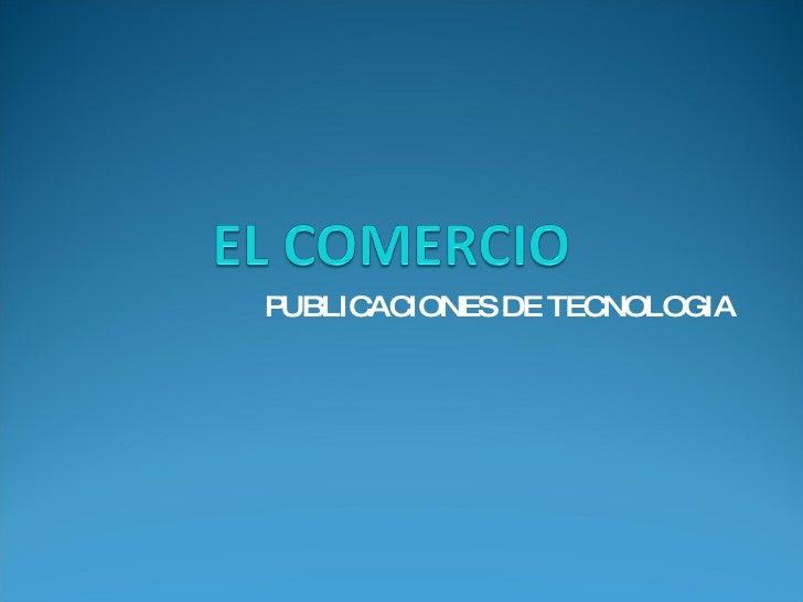 PUBLICACIONES DE TECNOLOGIA