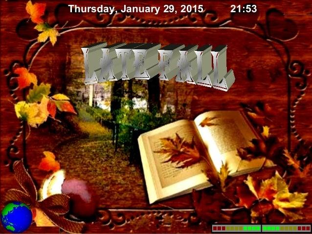 Thursday, January 29, 2015 21:53