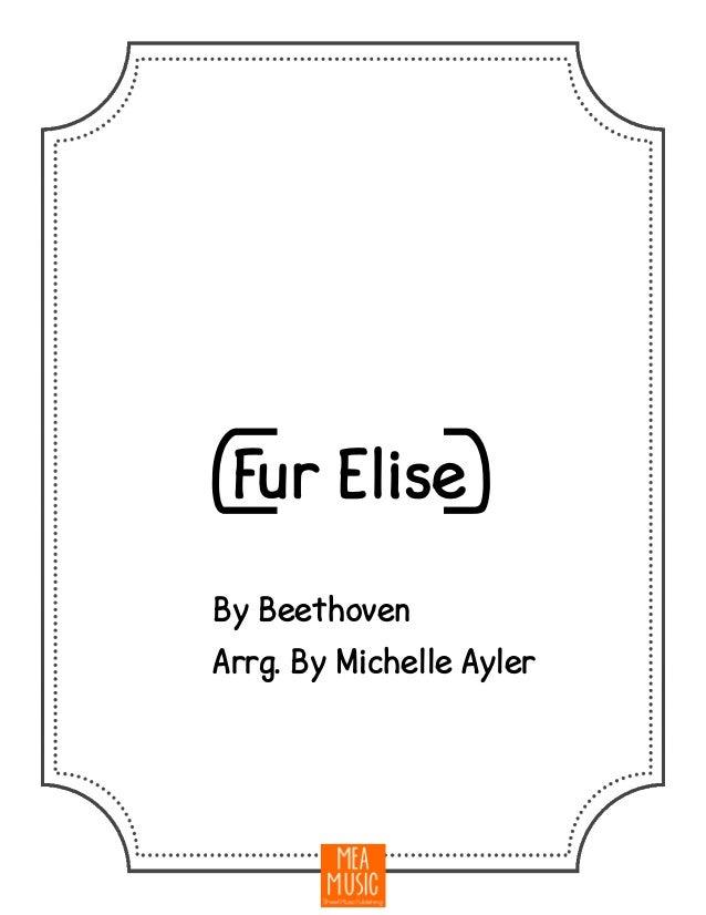 Late intermediate fur elise sheet music piano solo