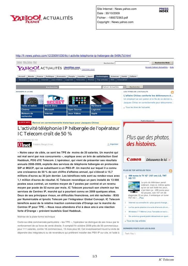 Site Internet : News.yahoo.com                                                                                            ...