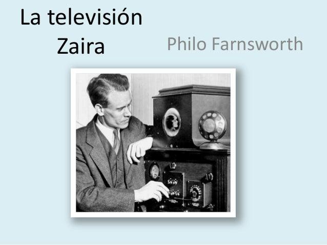 La televisión Zaira Philo Farnsworth