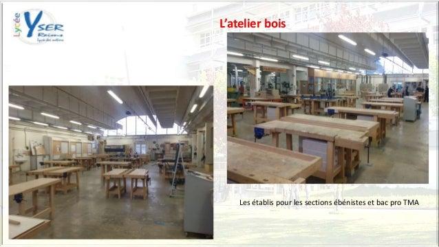 L'atelier bois Les établis pour les sections ébénistes et bac pro TMA
