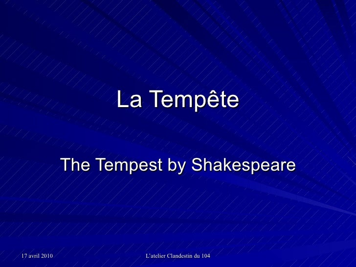 La Tempête The Tempest by Shakespeare