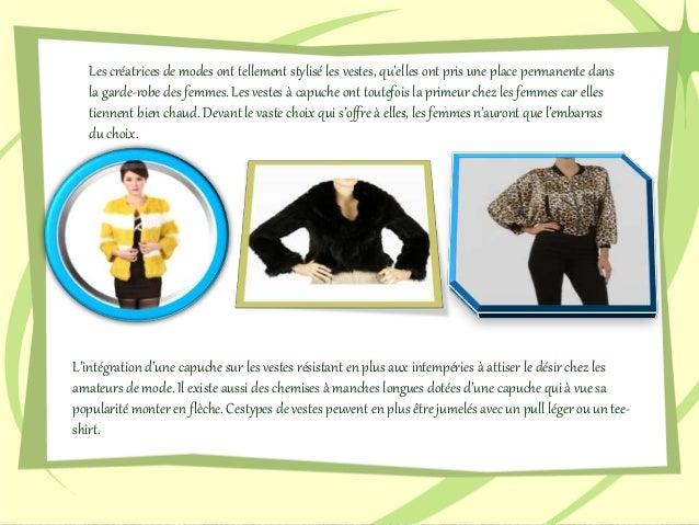 La tendance est à la veste à capuche pour femmes Slide 3