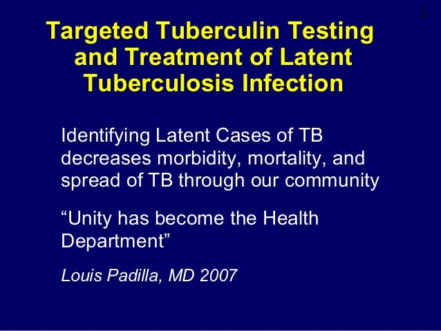 Latent Tuberculosis Lecture Slide 2