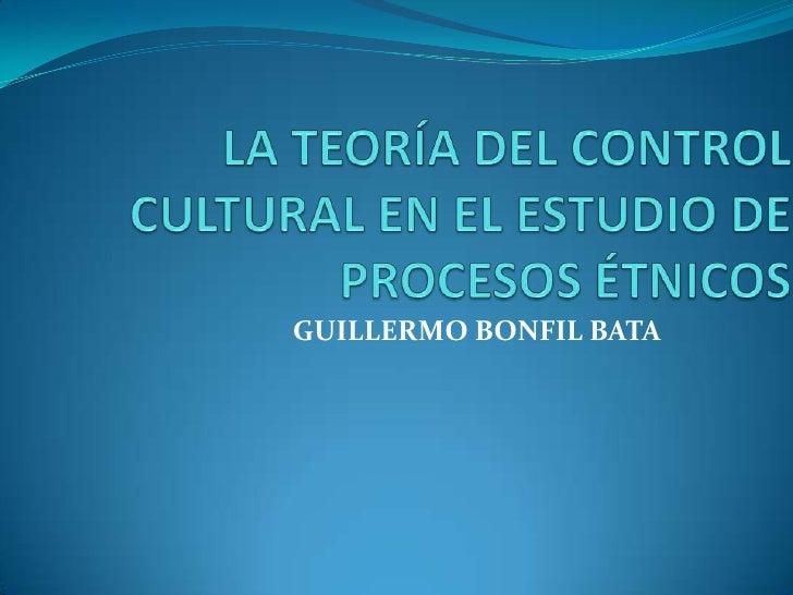 GUILLERMO BONFIL BATA